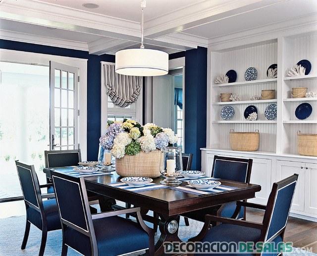 5 Comedores Que Apuestan Por El Color Azul