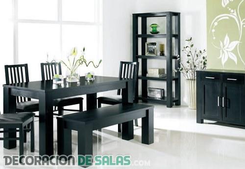 Muebles en color negro estilo para tu hogar - Colores para pintar un comedor ...