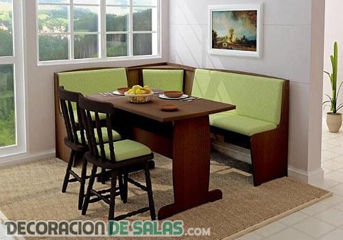 C mo decorar un comedor peque o for Muebles de comedor diario