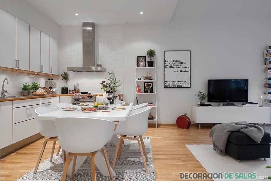 Un apartamento de estilo n rdico for Decoracion piso 65 m