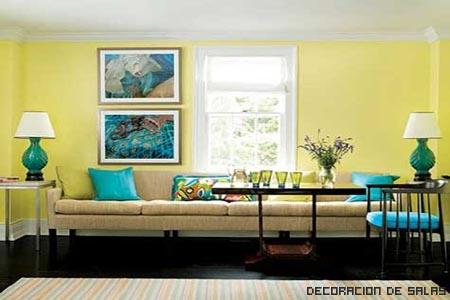 contraste azul y amarillo