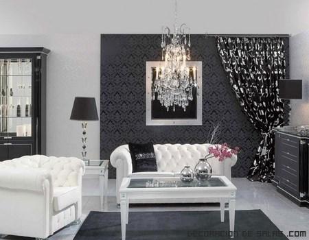 salones en negro y blanco