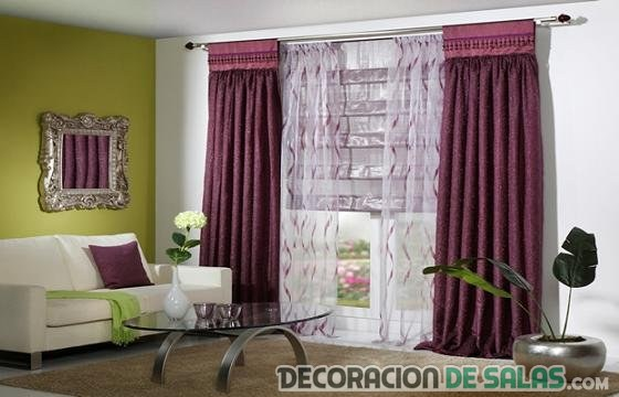 Combina las cortinas con la decoraci n del sal n for Colores de cortinas para salon