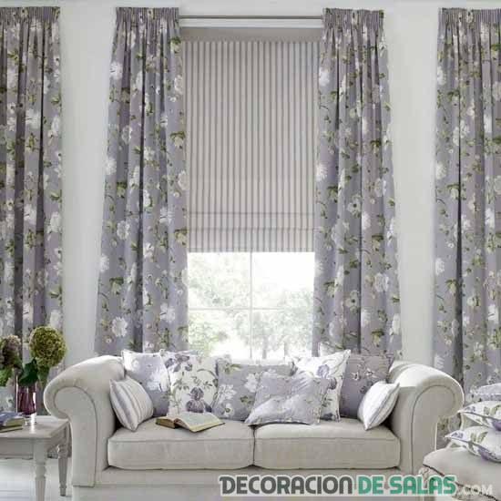 cortinas en gris para salón
