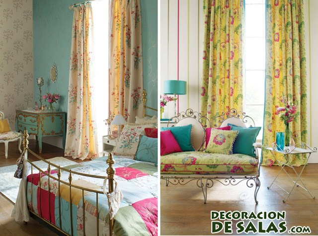 Cortinas para tapar muebles for Cortinas vintage dormitorio