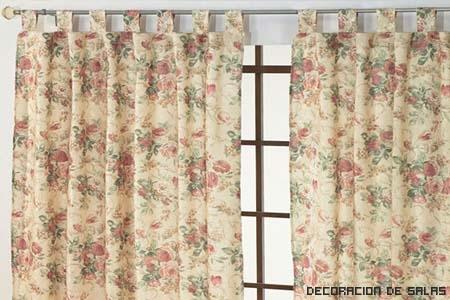 cortinas flores pequeñas