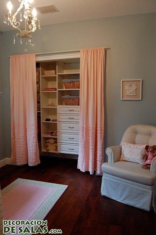 Cortinas para tapar muebles for Cortinas para puertas de armarios
