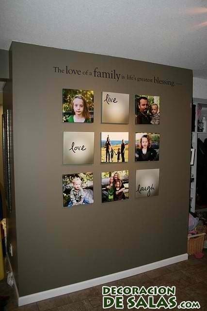 Decorar las paredes con recuerdos de familia - Cuadros con fotos familiares ...