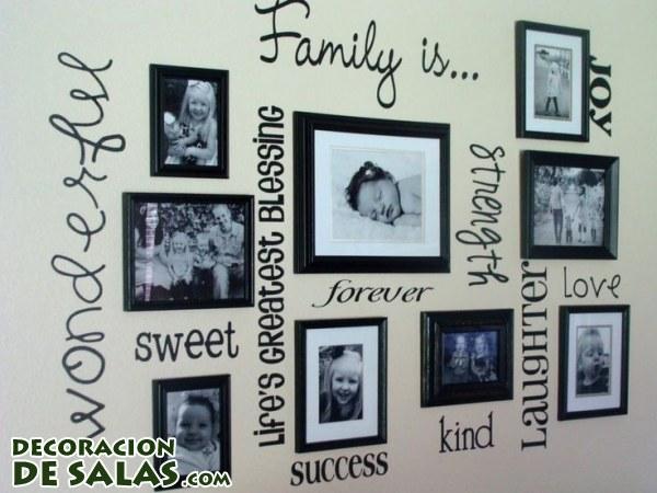 Decorar las paredes con recuerdos de familia - Como hacer un cuadro con fotos familiares ...
