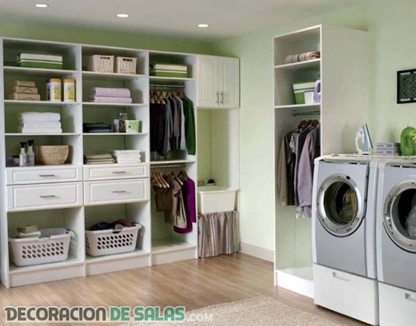 Decora tu cuarto de lavado o planchado for Diseno de muebles para cuarto de lavado