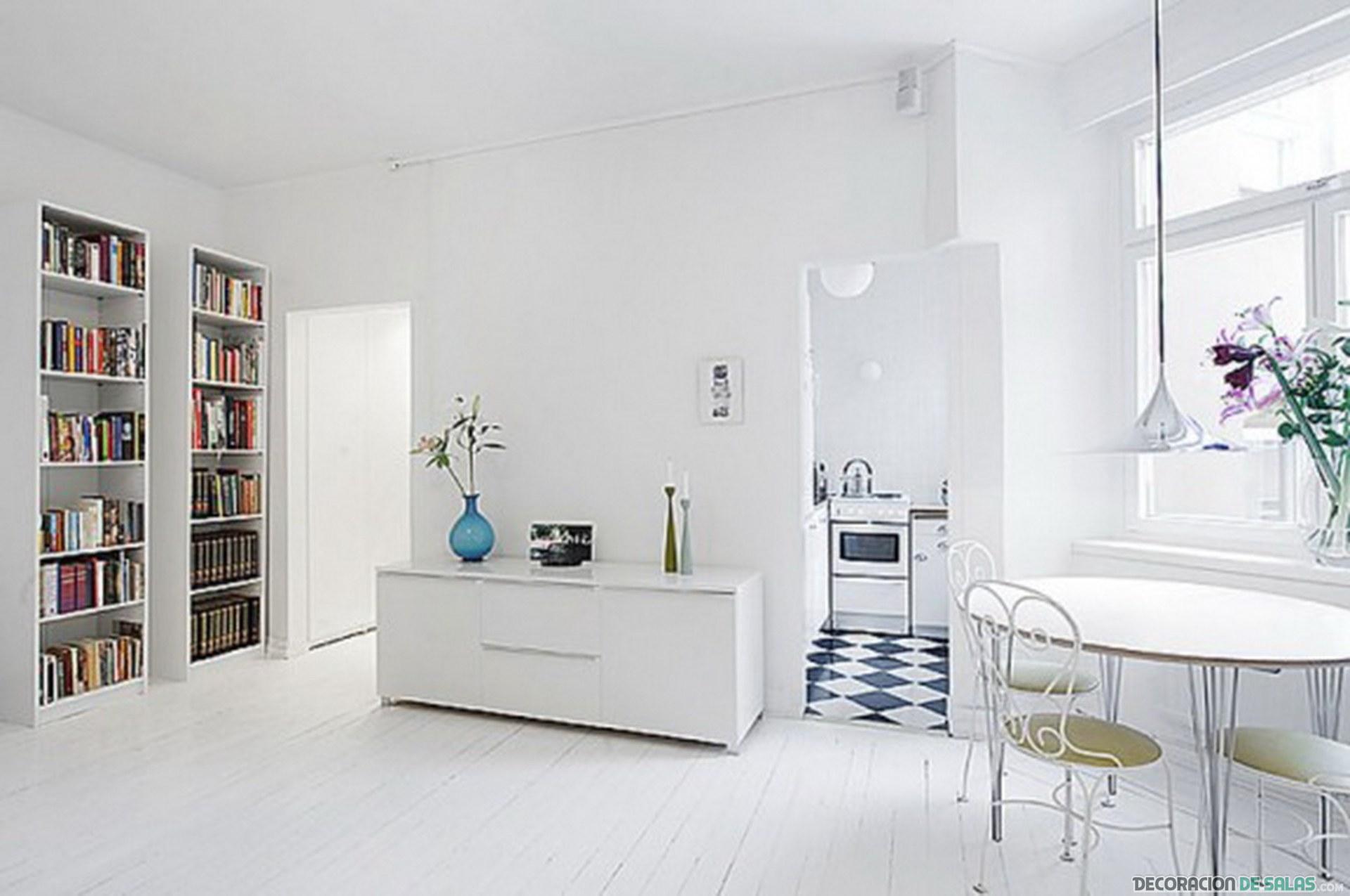 decoración blanca estilo minimal
