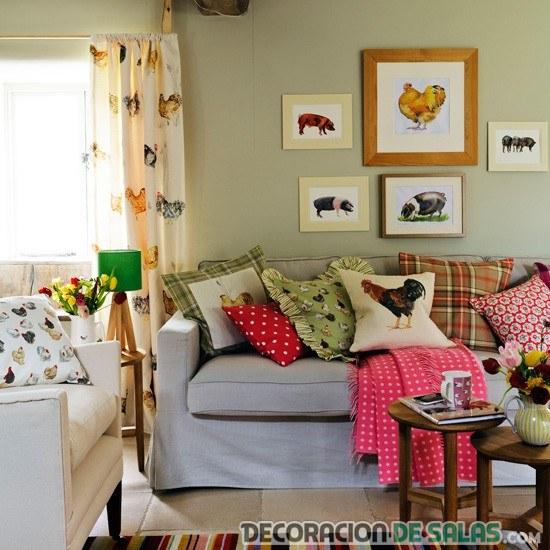 decoración country para salón pequeño