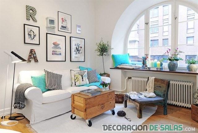 decoración de interiores en colores de verano