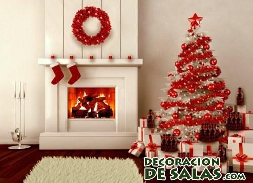 Rboles de navidad en color blanco for Muebles decorados de navidad