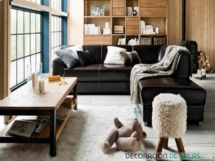El sof en color negro una tendencia elegante - Salones con sofa negro ...