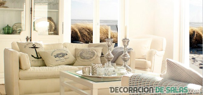 Decoracion apartamentos peque os de playa for Decoracion salon beige