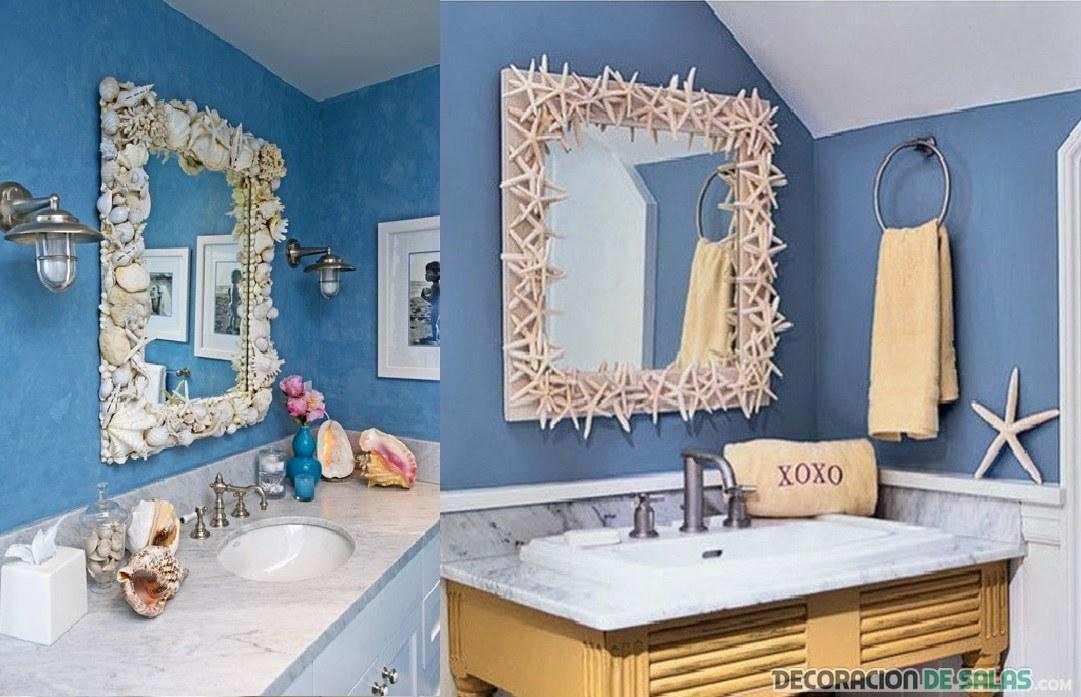 decoracion facil espejos baño