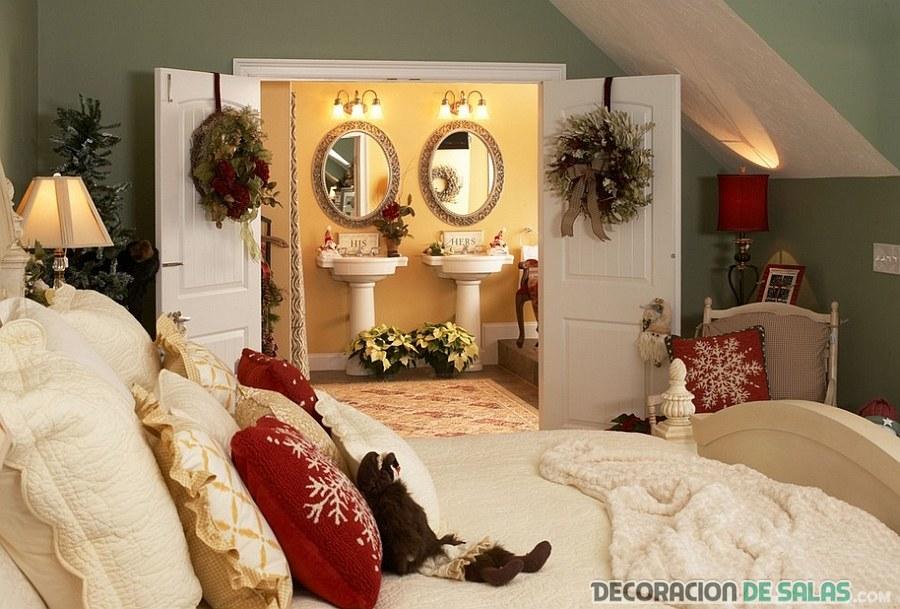 decoración navideña en habitaciones