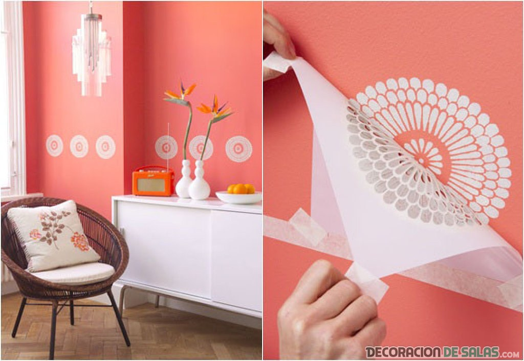 Ideas originales para decorar las paredes for Como decorar una pared con pintura