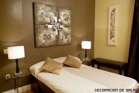 Paredes de habitaci n en dos colores - Pintar pared dormitorio ...