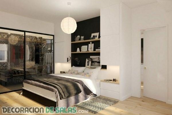 Cabeceros con almacenaje en dormitorio con estilo