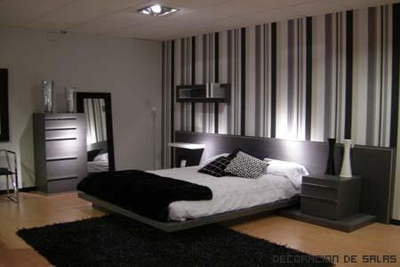 Peque os cambios en el dormitorio - Dormitorio en blanco y negro ...