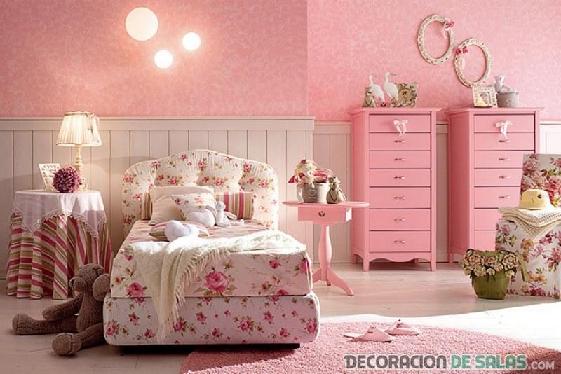 Dormitorios con muebles rosa para ni as dormitorios con - Muebles boom cabeceros ...
