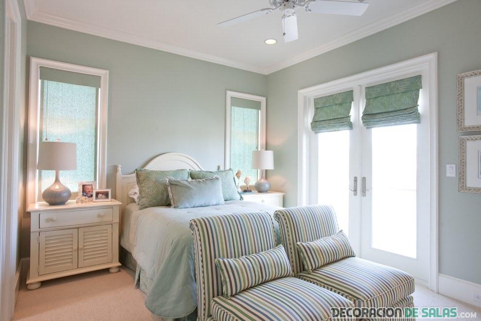 dormitorio claro en tonos pastel