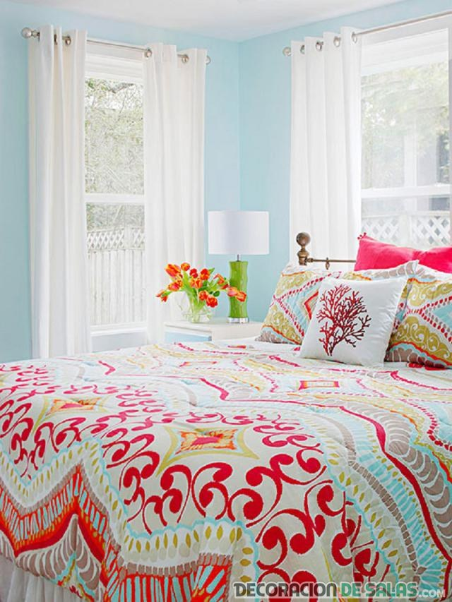 dormitorio colores vibrantes