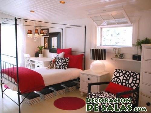 Dormitorios en blanco negro y rojo - Dormitorio negro y rojo ...