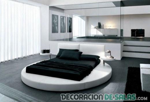 dormitorio con cama redonda moderno