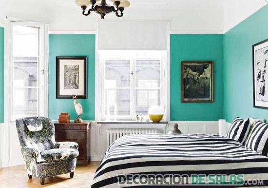 El color aguamarina en la decoraci n de tu hogar for Habitacion blanca y turquesa