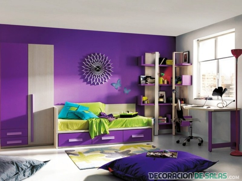 Mezclando dos colores vibrantes en el dormitorio - Dormitorio malva ...