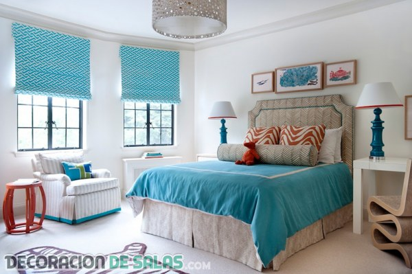Cortinas azules para dormitorios y salones
