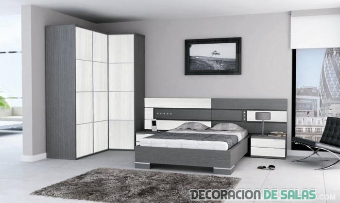 Armario esquinero blanco metod armario alto cocina baldas for Armarios dormitorio matrimonio