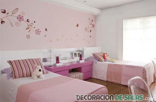 dormitorio dos camas para niñas