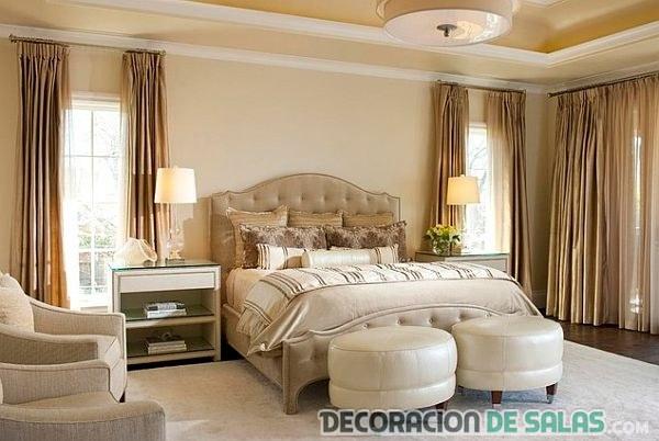 dormitorio elegante de corte clásico