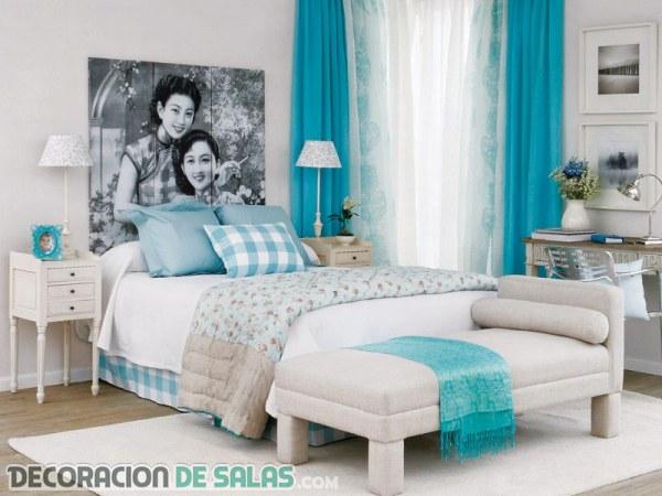 Decoraci n en color celeste para tu hogar for Decoracion hogar verde