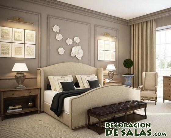 dormitorios en los que predomina el color marr n