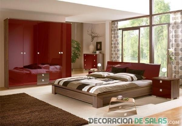 dormitorio en color rojo