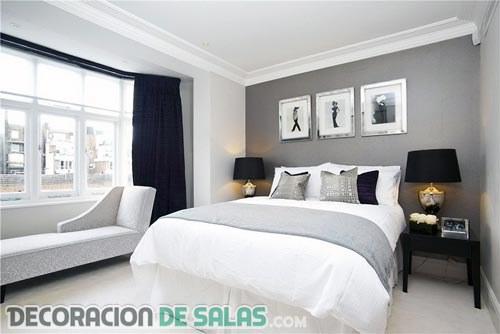 Descubriendo los dormitorios elegantes en gris for Cortinas grises para dormitorio
