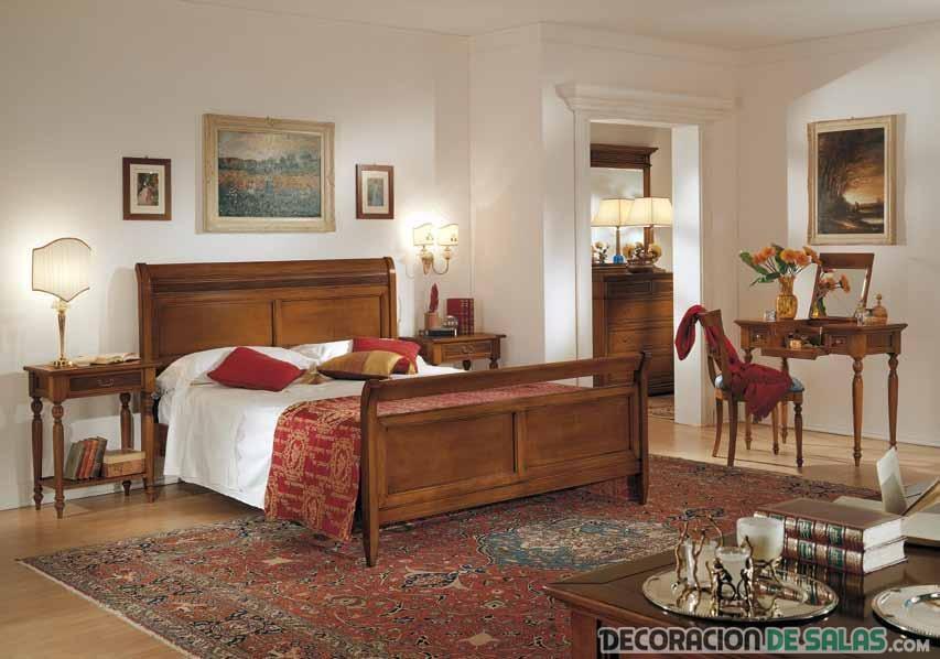 4 dormitorios con estilos decorativos diferentes - Dormitorios juveniles clasicos madera ...