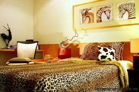 Estilo africano para el dormitorio
