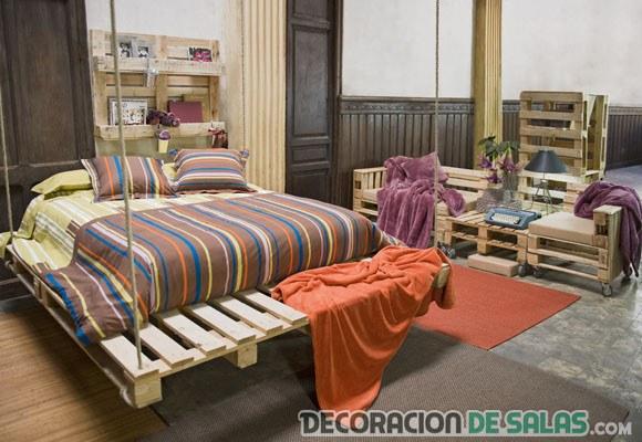 dormitorio hecho con palets