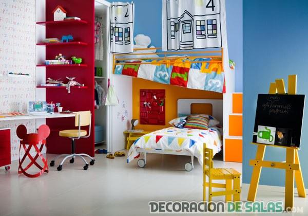 Habitaci nes para ni os con mucho color - Decoracion dormitorio infantil nino ...