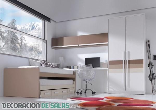 Dormitorios juveniles en colores neutros for Colores de dormitorios juveniles
