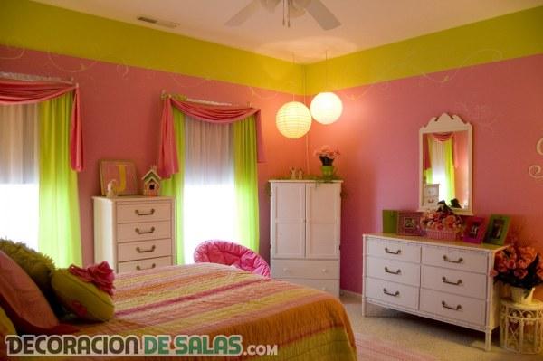 Dormitorios juveniles en rosa y blanco