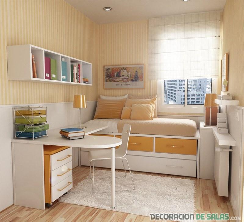 3 ideas de dormitorios peque os pero siempre elegantes - Ideas dormitorios pequenos ...