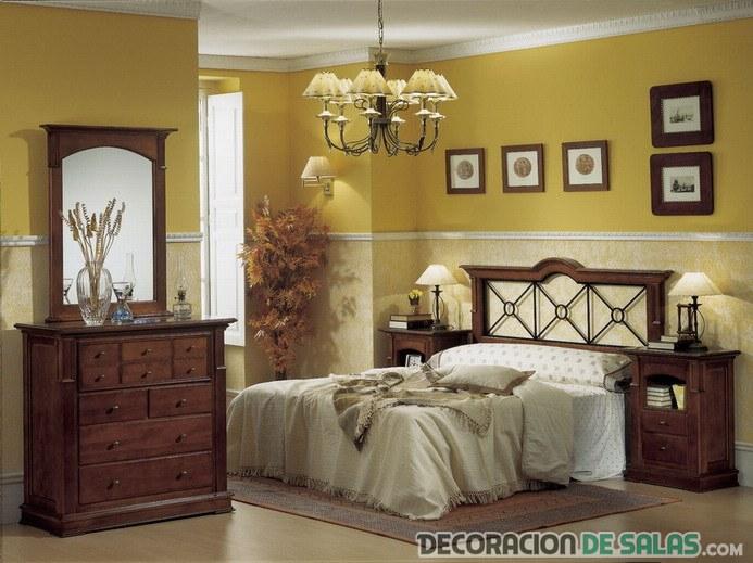 Dormitorios de matrimonio con estilo r stico for Dormitorio rustico