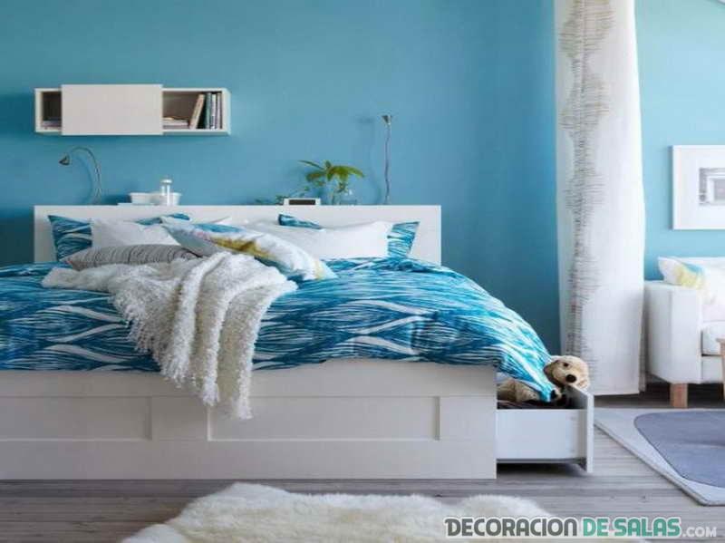 ¿Te gustan los dormitorios en color azul?